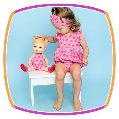 Maiô infantil - Meu primeiro Maiô com estampa de Maçã com proteção UV