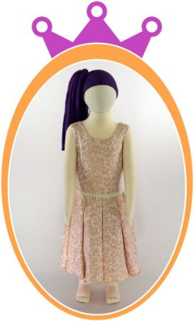 Vestido Estampa que Imita Aveludado com Cinto em Pérola