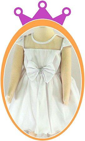Vestido infantil de Chifon com Strass