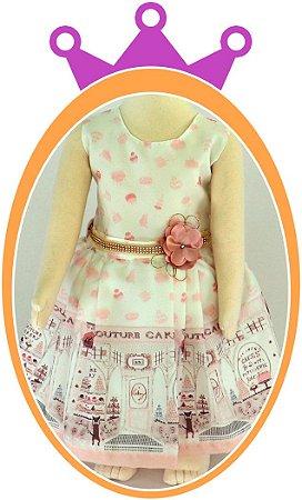 Vestido infantil Estampa Country Cake