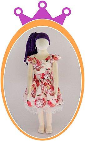 Vestido com Estampa Floral e Relógio