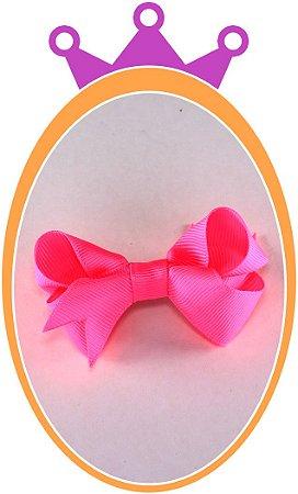 Bico de Pato Laço Gorgurão - Cor: Rosa Fluorescente - PAR