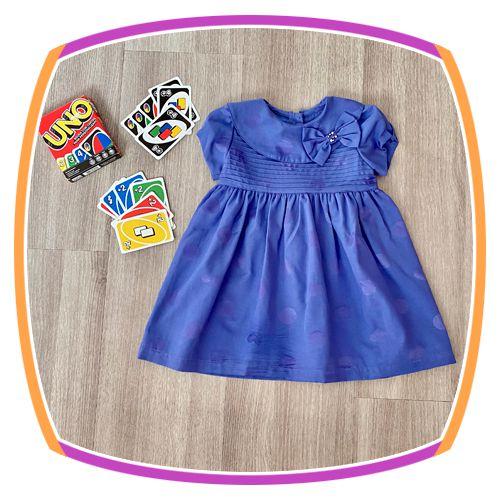 Vestido infantil Corpo em Nervura e Poá