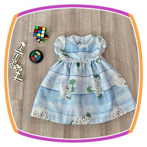 Vestido infantil Estampa de Margaridas Brancas