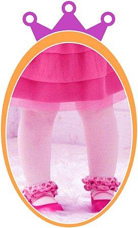 Meia Calça Bebê Fio 40 - Cor: Rosa (BB)