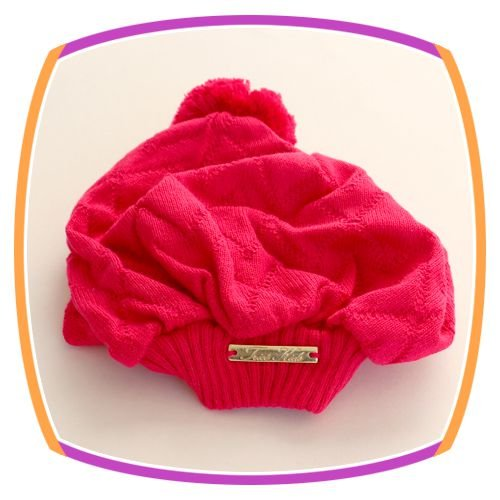 Boina infantil em tricot -  pink