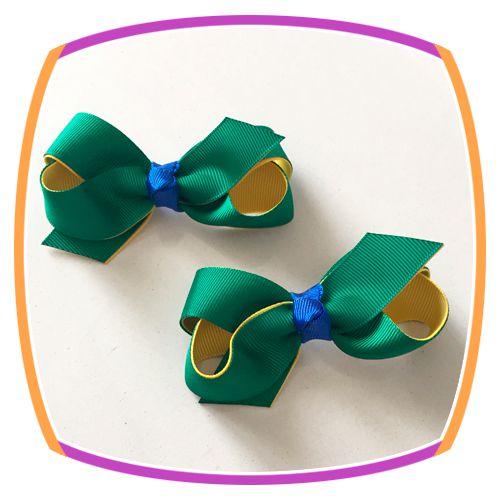Bico de Pato com cores do Brasil - par