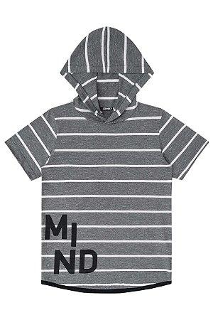 Camiseta infantil cinza em Malha Flame Moline Listrado Fio Tinto e ... 39a471c7965