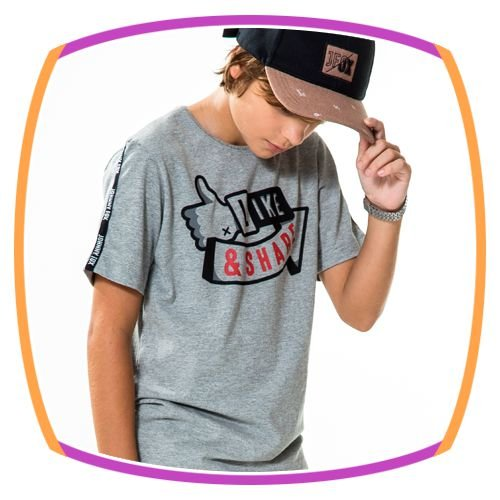 Camiseta infantil LIKE AND SHARE
