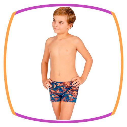 Sunga infantil Boxer Camuflado