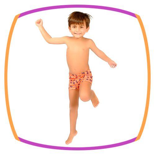 Sunga infantil Boxer Laranja