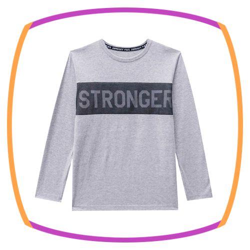 Camiseta infantil em meia malha STRONGER