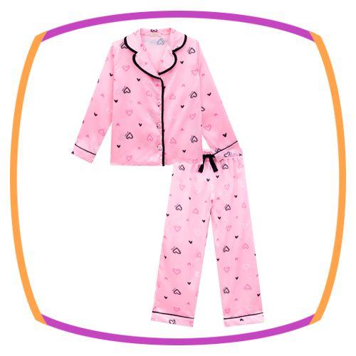 Pijama infantil em Cetim