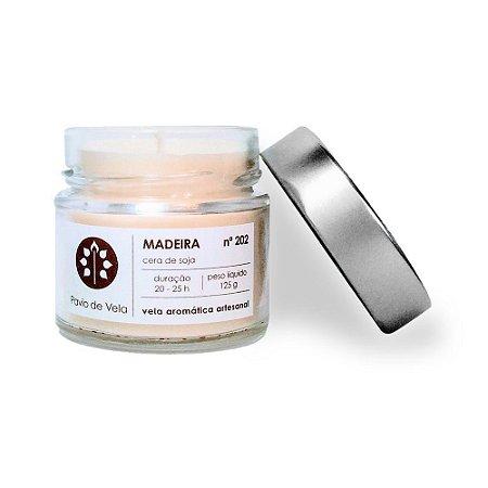 Vela Perfumada Pavio de Vela: Madeira 202 (125g)