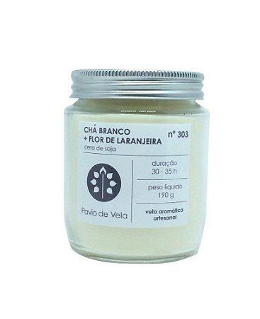 Vela Perfumada Pavio de Vela: Chá Branco + Flor de Laranjeira 303 (190g)
