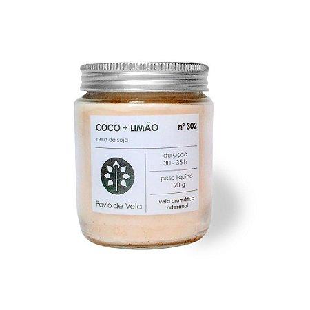 Vela Perfumada Pavio de Vela: Côco + Limão 302 (190g)