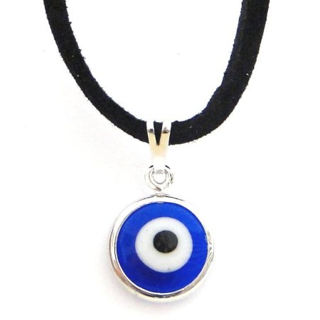 Gargantilha Olho Grego com Cordão (12mm)