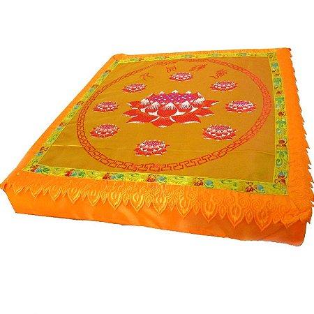 Almofada Quadrada Flor de Lótus para Yoga e Meditação (47cm)