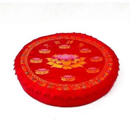 Almofada Redonda Flor de Lótus para Yoga e Meditação (47cm)