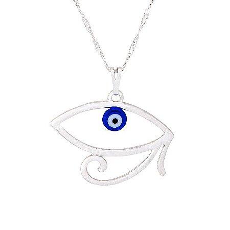 Gargantilha Olho de Hórus com Olho Grego (30mm)