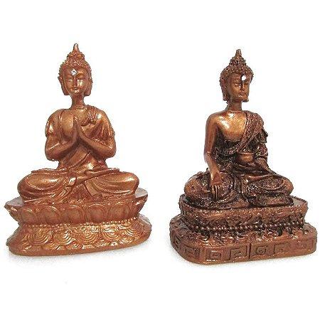 Buda Meditando com Cristais (10cm)
