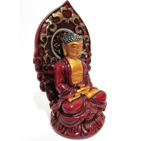 Buda Sakyamuni Vermelho em Resina (11cm)