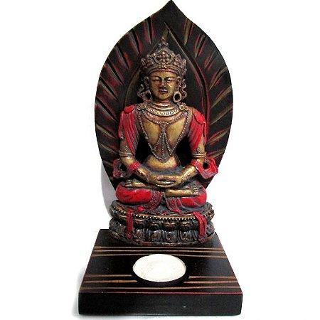 Buda Sentado com Porta Velas Rechaud (20cm)