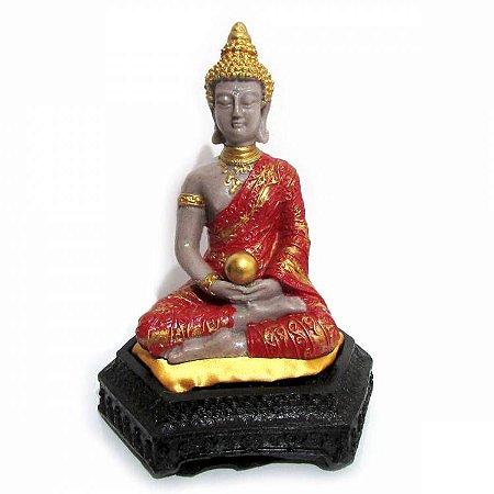 Buda Tibetano na Almofada (20cm) Vermelho
