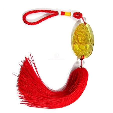 Móbile Buda da Sorte Amarelo (33cm)
