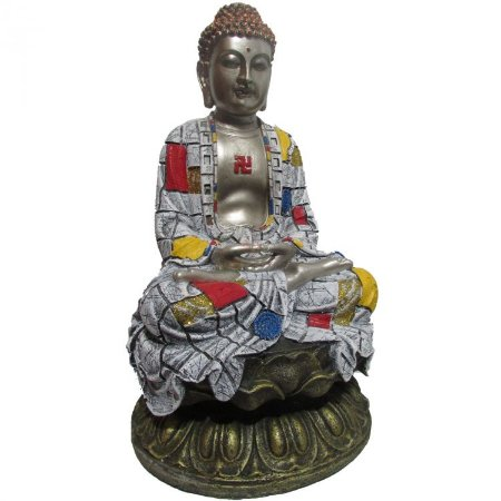 Buda Tailandês Colorido Grande (45cm)