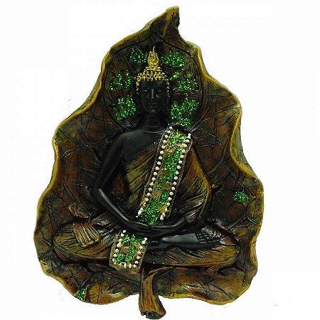 Buda Meditando na Folha para Pendurar (18cm)