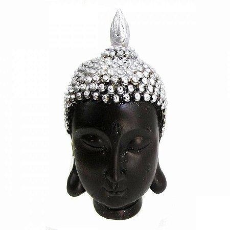 Cabeça de Buda Tibetano Prata (17cm)