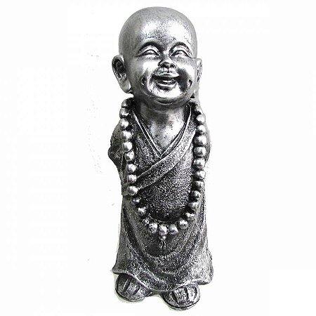 Monge em Pé com Colar Prata (30cm)