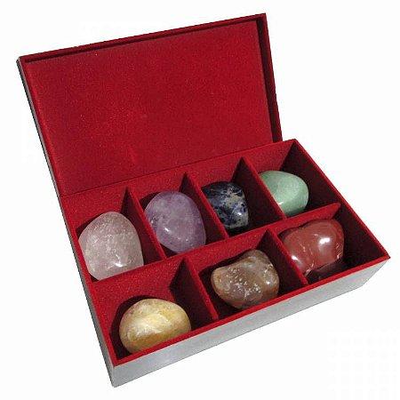 Kit com Pedras dos 7 Chakras para Massagem