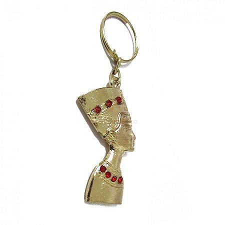 Chaveiro Nefertiti em Metal (10cm)