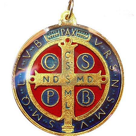 Medalha Pingente De São Bento 3cm Dourada ou Prata
