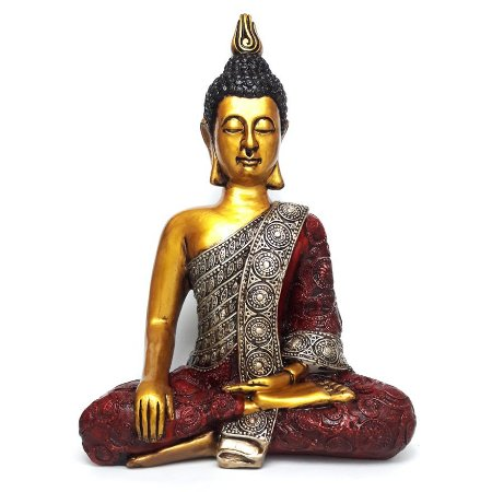 Buda Nirvana Meditando Médio (34 cm)