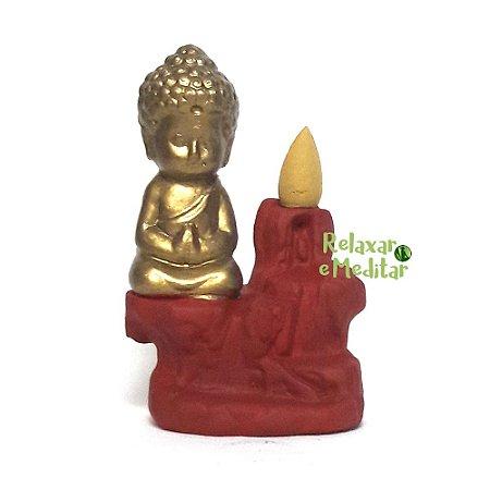 Incensário Cascata de Fumaça com Monge da Gratidão