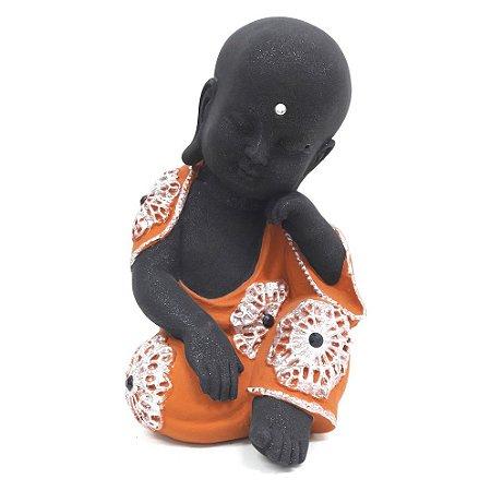 Estátua Buda Baby Pensamento (18cm)
