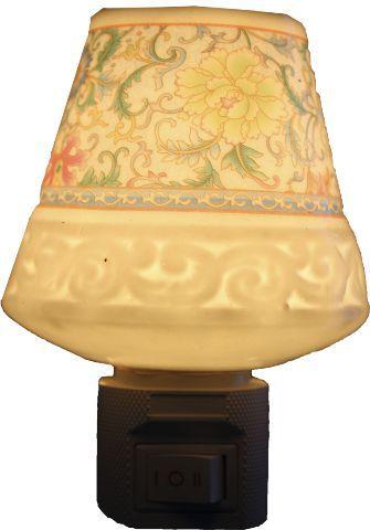 Aromatizador Elétrico Floral com Arabesco em Porcelana