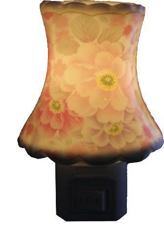 Aromatizador Elétrico Flores Cor de Rosa em Porcelana