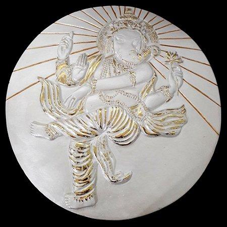 Placa Decorativa Ganesha com Suporte para Parede (36cm)