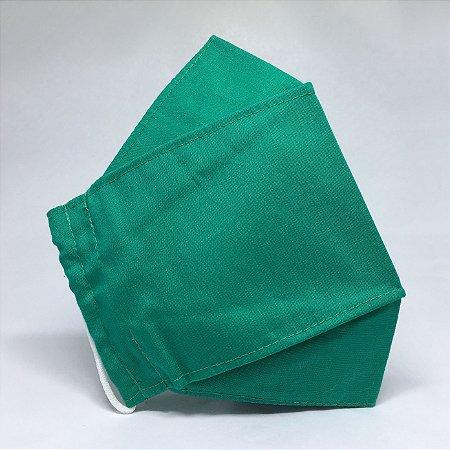Máscara de Tecido 3D Verde Esmeralda - Tarja