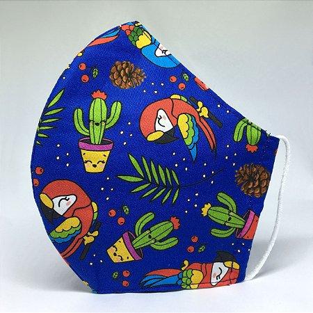 Máscara Bico de Pato Estampa Tropical