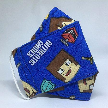 Máscara de Tecido 3D Minecraft - Tripla Camada