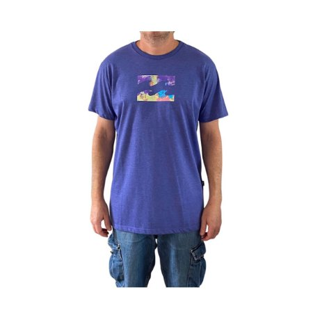 Camiseta Billabong Team Wave Azul Mescla