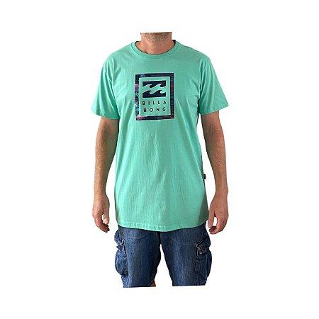 Camiseta Billabong United Stacked Verde Claro