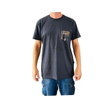 Camiseta Billabong Team Pocket I Cinza Escuro Mescla