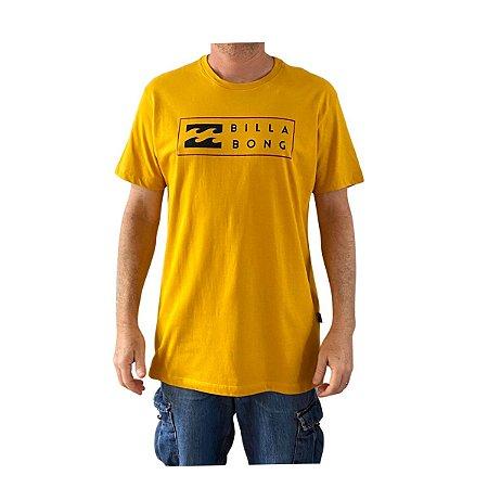 Camiseta Billabong United I Amarelo Escuro