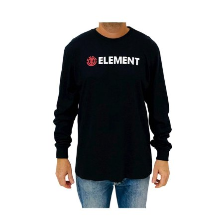 Camiseta Element Manga Longa Blazin Preto